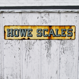 Howe Scales sign fown by the Fishers Island ferry dock.